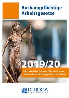 "Aushangpflichtige Arbeitsgesetze ""DEHOGA"" 2019/20"