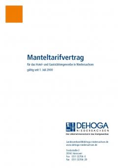Manteltarifvertrag Hotel-& Gaststättengewerbe Niedersachsen