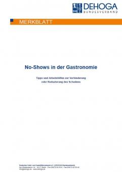 DEHOGA Merkblatt No-Shows in der Gastronomie