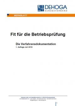 DEHOGA Merkblatt Verfahrensdokumentation
