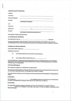 Arbeitsvertrag mit Tarifbindung für das Land Brandenburg