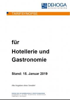 Tarifsynopse 2019 für Hotellerie und Gastronomie