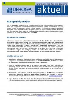 Merkblatt zur Allergeninformation PDF