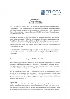 Merkblatt Registrierkassen PDF