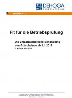 Merkblatt umsatzsteuerliche Behandlung von Gutscheinen PDF