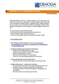 Merkblatt Online-Bewertungen PDF