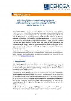 Merkblatt Verpackungsgesetz - Stand August 2021 PDF