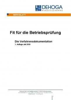 DEHOGA Merkblatt Verfahrensdokumentation PDF