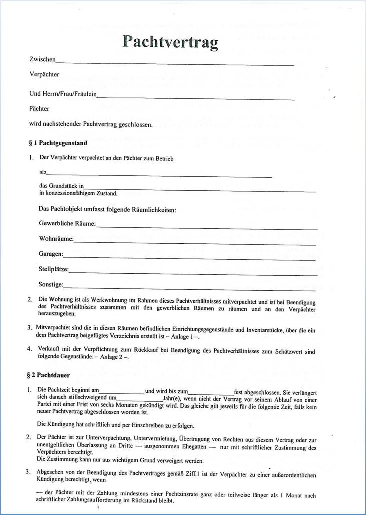 pachtvertrag