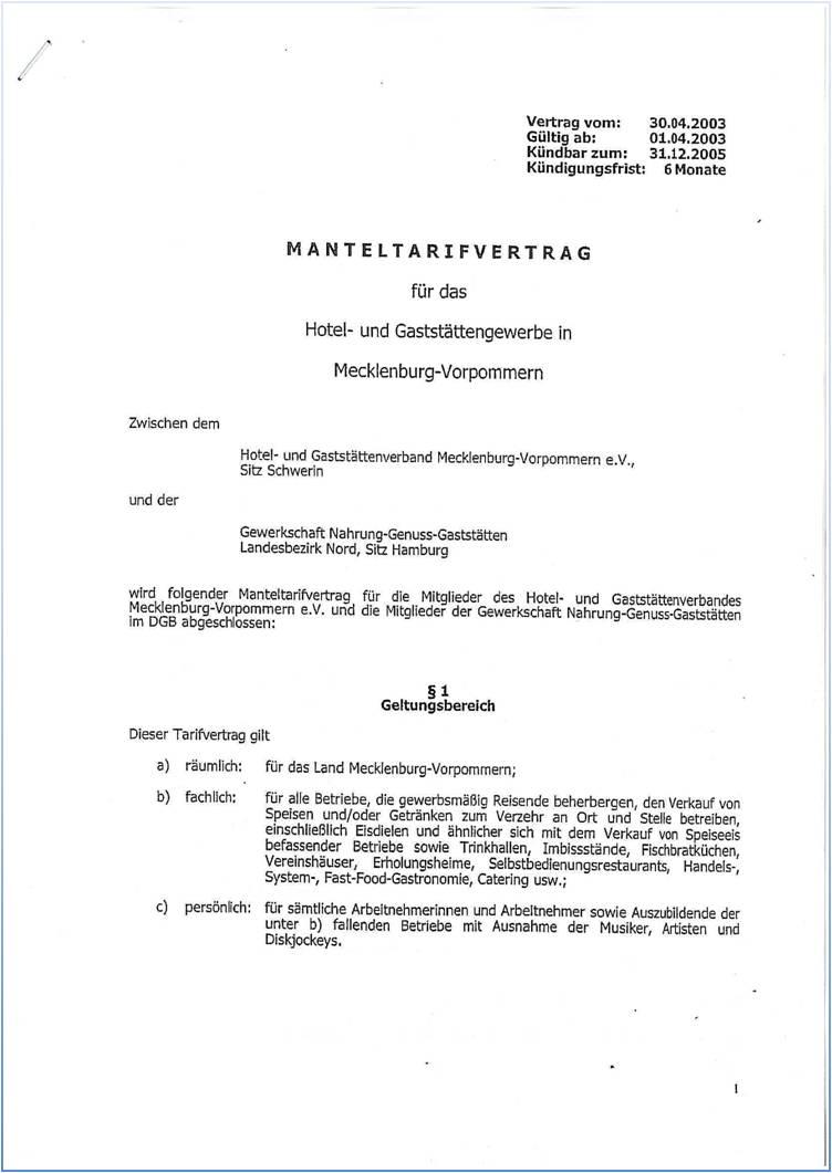 Dehoga Shop Manteltarifvertrag Mecklenburg Vorpommern Online Kaufen